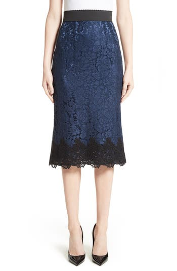 Women's Dolce & gabbana Lace Pencil Skirt