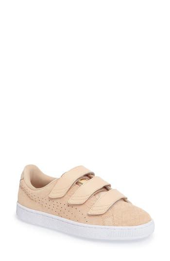 Puma Basket Strap Exoticskin Sneaker- Beige