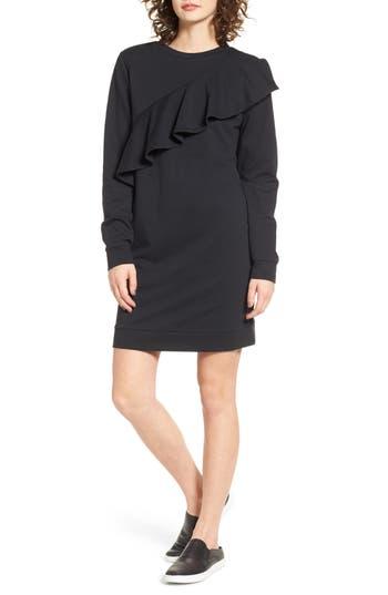 Love, Fire Ruffle Sweatshirt Dress