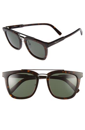 Men's Salvatore Ferragamo 52Mm Sunglasses - Tortoise