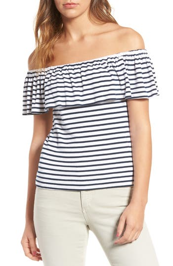 Splendid Venice Stripe Off The Shoulder Top