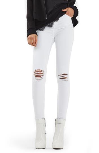 Women's Topshop Jamie Ripped Skinny Jeans