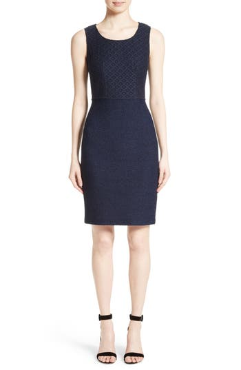 St. John Collection Newport Knit Diamond Dot Dress