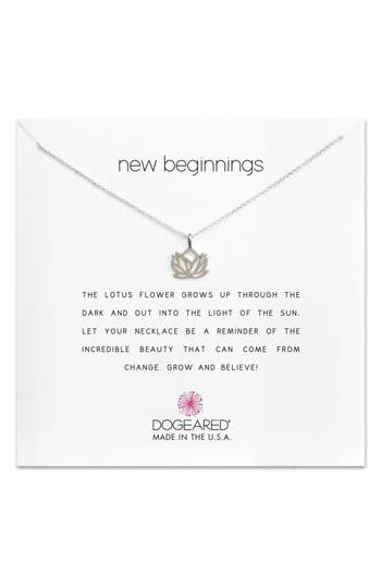 Women's Dogeared Lotus Reminder Pendant Necklace