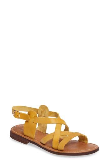 Women's Bos. & Co. Ionna Sandal, Size 5.5-6US / 36EU - Yellow