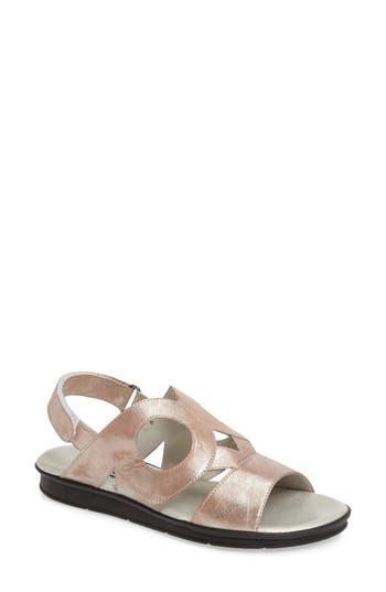Sesto Meucci Tenax Cutout Sandal, Beige
