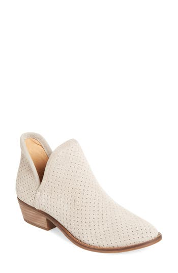 Lucky Brand Kambry Perforated Bootie, Beige