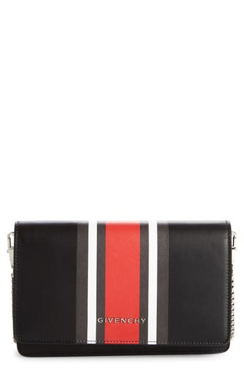 Givenchy Pandora Calfskin Leather Wallet On A Chain -