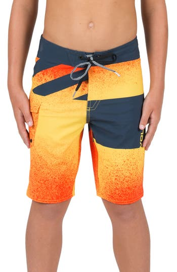Toddler Boy's Volcom Logo Party Pack Mod Board Shorts, Size 2T - Orange