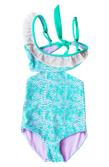 Girl's Bowie X James Cococolada One-Piece Cutout Swimsuit