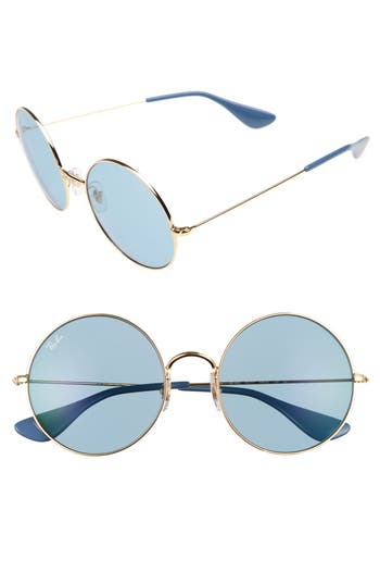 Ray-Ban The Ja-Jo 55Mm Round Sunglasses - Gold