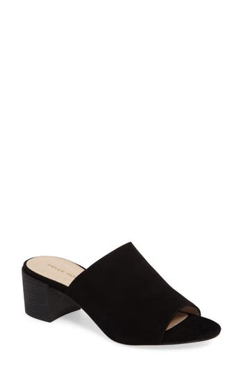 Pelle Moda Union Block Heel Mule- Black