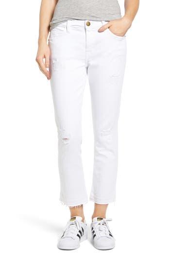 Women's Current/elliott 'The Cropped Straight' Straight Leg Crop Jeans