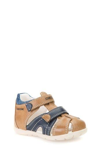 Boys Geox Kaytan Sandal Size 6.5US  22EU  Brown