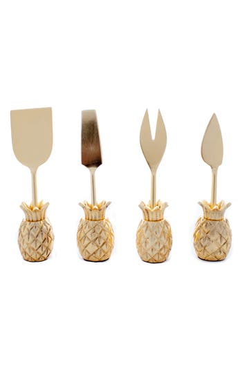 Zestt Luau Set Of 4 Cheese Knives