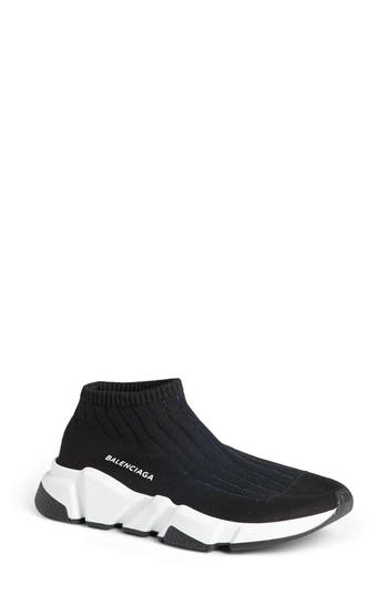 Balenciaga Low Trainer Sneakers, Black