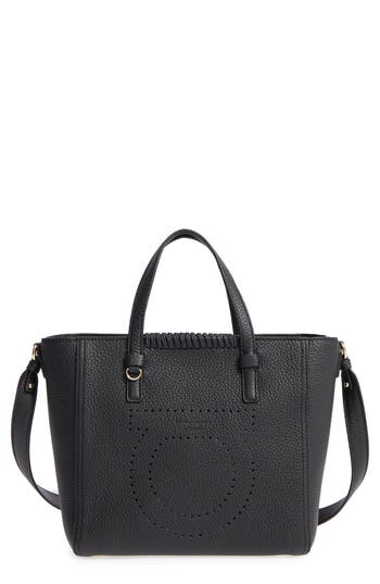 Salvatore Ferragamo Small Pebbled Leather Tote - None