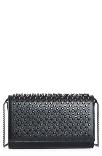 Christian Louboutin Paloma Spike Leather Clutch - at NORDSTROM.com