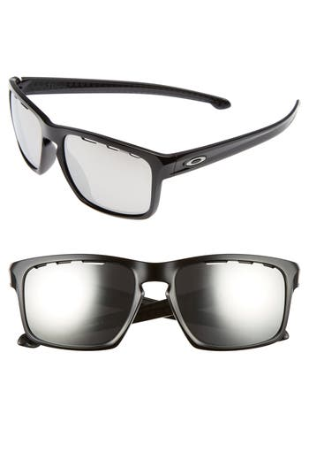 Oakley Sliver(TM) Halo 57Mm Sunglasses - Black/ Chrome Iridium