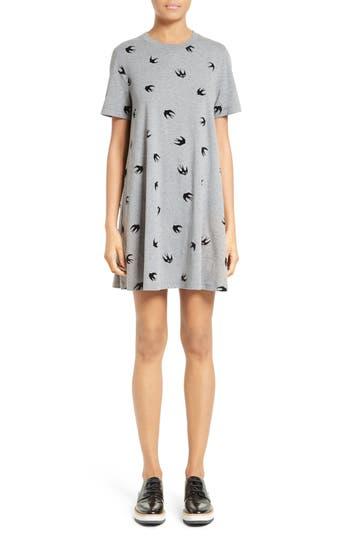 Mcq Alexander Mcqueen Swallow Babydoll Dress, Grey