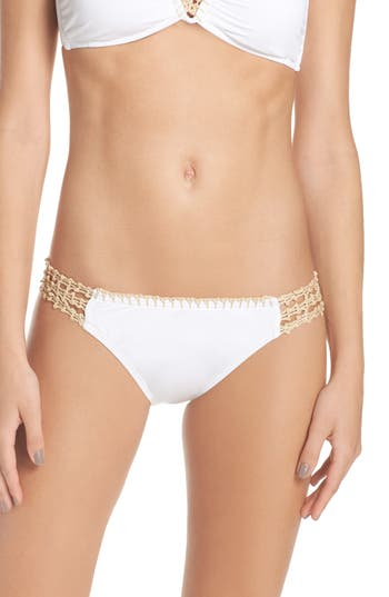 Women's The Bikini Lab Crochet Bikini Bottoms, Size X-Small - White