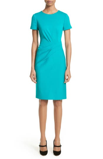 St. John Collection Milano Knit Dress, Blue/green