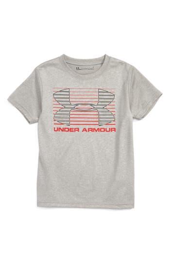 Boy's Under Armour Logo Lines Graphic Heatgear T-Shirt