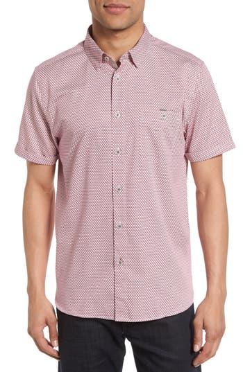 Men's Ted Baker London Silamor Slim Fit Geo Print Sport Shirt