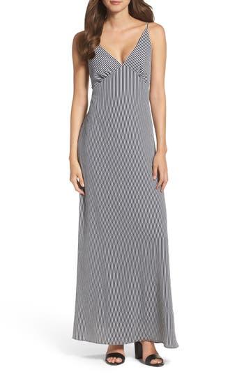 Nsr Stripe Stretch Maxi Dress, Blue
