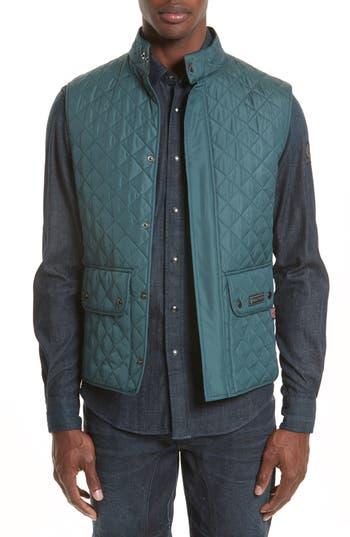 Belstaff Waistcoat Tech Quilted Vest, Blue
