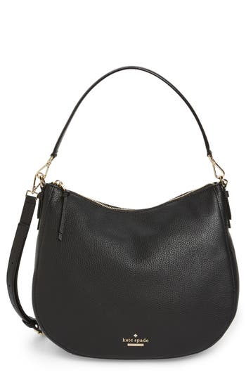 Kate Spade New York Jackson Street Mylie Leather Hobo - Black at NORDSTROM.com