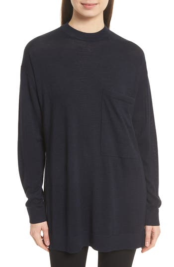 Joseph Fine Merino Wool Tunic Sweater, Blue