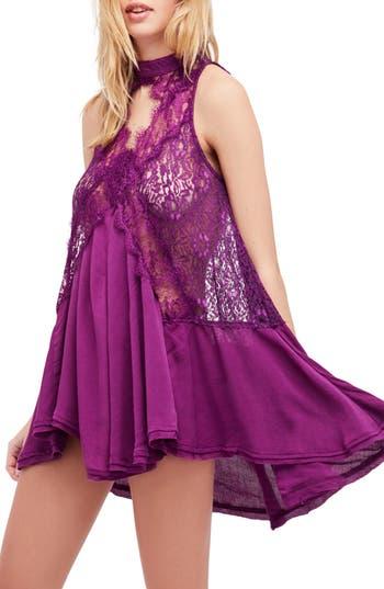 Free People Tell Tale Sleeveless Tunic, Purple