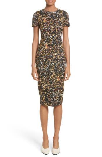 Victoria Beckham Marble Jacquard Dress, US / 8 UK - Black