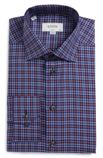 Men's Eton Slim Fit Plaid Dress Shirt