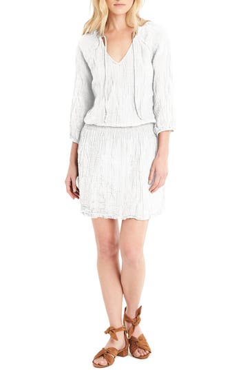Michael Stars Cotton Smocked Waist Dress