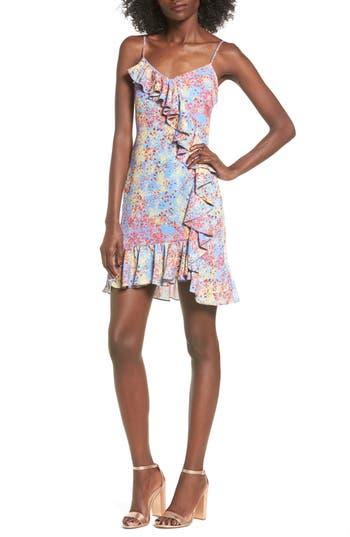Devlin Blair Floral Ruffle Dress, Blue