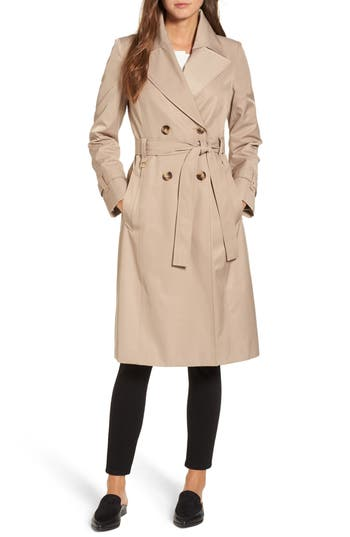Women's Via Spiga Double Breasted Trench Coat
