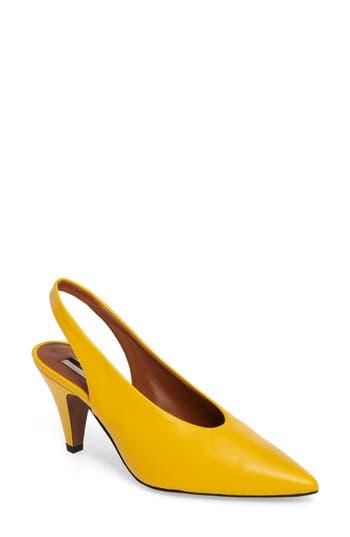 Topshop Jemma Slingback Pointy-Toe Pump - Yellow