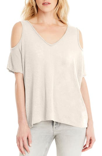 Michael Stars Cold Shoulder Tee, Size One Size - Ivory