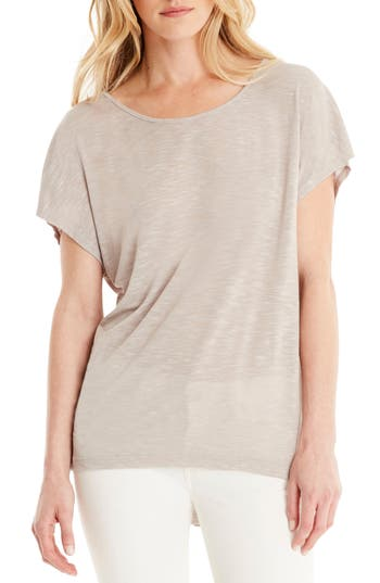 Michael Stars Layered Tee, Size One Size - Beige