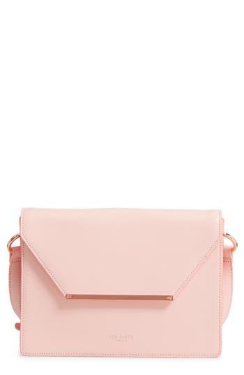 Ted Baker London Magsie Bar Detail Leather Envelope Clutch - Pink