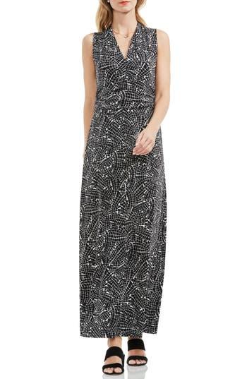 Vince Camuto Modern Mosaic Halter Style Maxi Dress