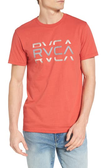 Rvca Cut Graphic T-Shirt, Red