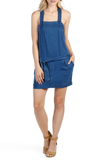 Paige Winnie Chambray Minidress, Blue