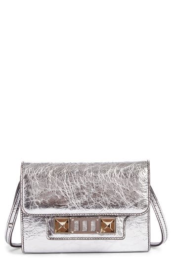 Women's Proenza Schouler Ps11 Leather Crossbody Wallet - Metallic
