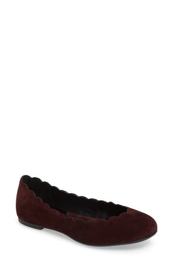 B?rn Allie Scalloped Ballet Flat, Burgundy
