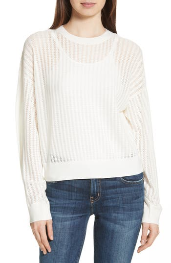 Theory Verlina B Refine Merino Wool Sweater, Size Petite - Ivory