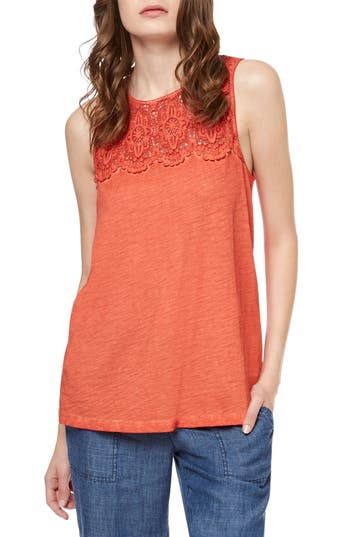 Women's Sanctuary Estee Crochet Yoke Tank