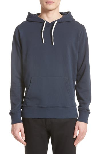 Saturdays Nyc Ditch Sleeve Logo Hoodie, Blue